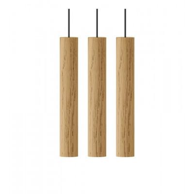 LAMP CHIMES CLUSTER 3 OAK UMAGE - NATURAL OAK 02230