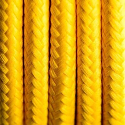 Kabel w oplocie poliestrowym 01 hiszpańska cytryna dwużyłowy 2x0.75