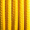 Round electric cable covered by polyester 01 Spanish lemon 2x0.75