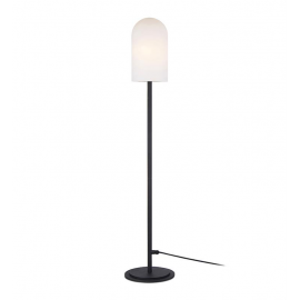 Floor large standing lamp AFTERNOON 1L Black / White IP44 107998 Markslojd