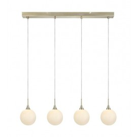 Hanging lamp on a strip QUATTRO XL Hanging 4L Patina / White 107869 MARKSLOJD