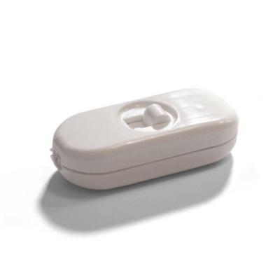 Jednobiegunowy włącznik światła suwakowy - biały projekt Achille Castiglioni Creative-Cables