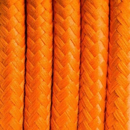 Kabel w oplocie poliestrowym 03 kalifornijska pomarańcza dwużyłowy 2x0.75