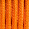Round electric cable covered by polyester 03 Californian orange 2x0.75