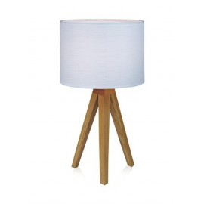 Table lamp KULLEN 1L Oak / White 104625 MARKSLOJD