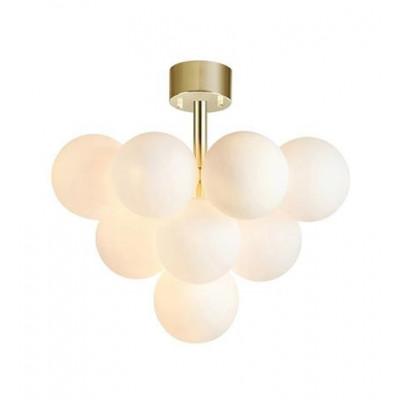 Hanging lamp MERLOT 13L gold / white 107912 MARKSLOJD