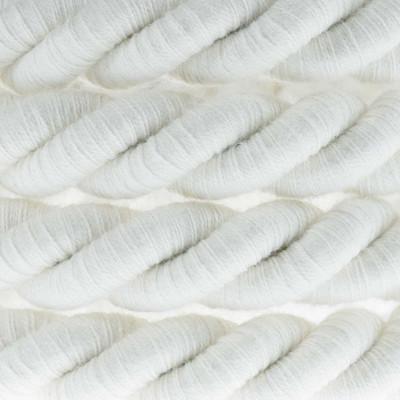Biały kabel skręcany w podwójnym oplocie bawełnianym trzyżyłowy 3x1x0.75 Creative Cables