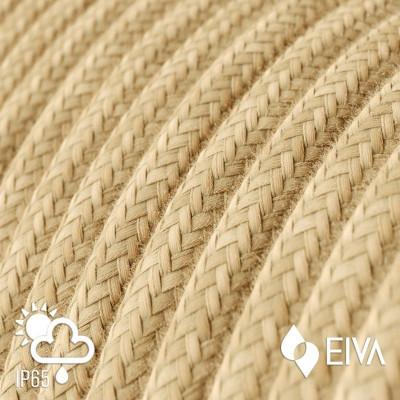 Zewnętrzny okrągły przewód w jutowym oplocie Jute SM06 - IP65 odpowiedni do systemu EIVA Creative-Cables
