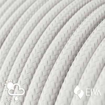 Zewnętrzny okrągły przewód w białym oplocie White Rayon SM01 - IP65 odpowiedni do systemu EIVA Creative-Cables