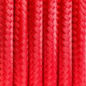 Round electric cable covered by polyester 04 Red chilli 2x0.75