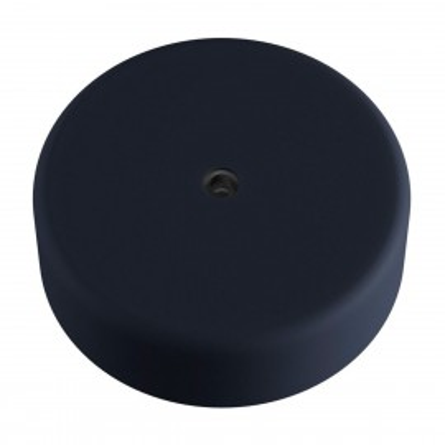 EIVA czarna zewnętrzna maskownica sufitowa IP65 rozeta z miękkiego silikonu Creative-Cables