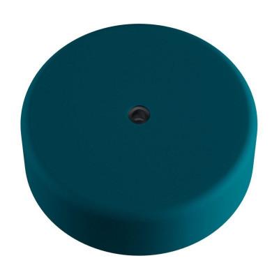 EIVA niebieska zewnętrzna maskownica sufitowa IP65 rozeta z miękkiego silikonu Creative-Cables