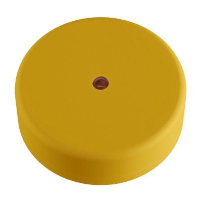 EIVA żółta zewnętrzna maskownica sufitowa IP65 rozeta z miękkiego silikonu Creative-Cables