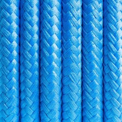 Kabel w oplocie poliestrowym 05 irański turkus dwużyłowy 2x0.75