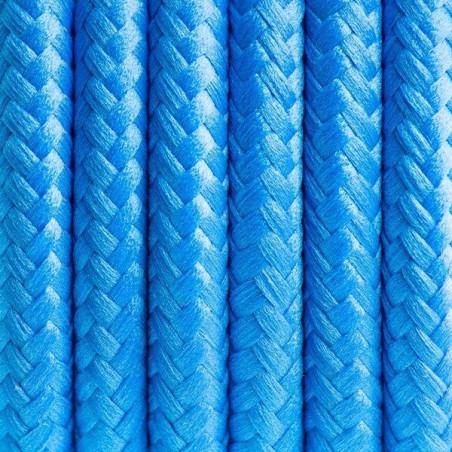 Niebieski kabel w oplocie poliestrowym 05 irański turkus dwużyłowy 2x0.75 Kolorowe Kable