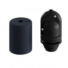 EIVA ELEGANT black silicone external lamp holder E27 IP65 with the possibility of self-assembly to the lampshade Creative-Cables