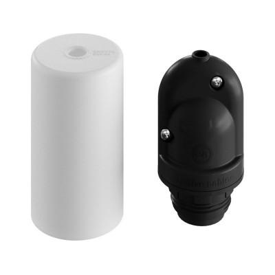 EIVA ELEGANT pierwsza biała silikonowa zewnętrzna oprawka E27 IP65 z możliwością samodzielnego montażu Creative-Cables