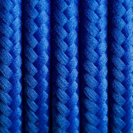 Round electric cable covered by polyester 06 Cornflower-blue look 2x0.75