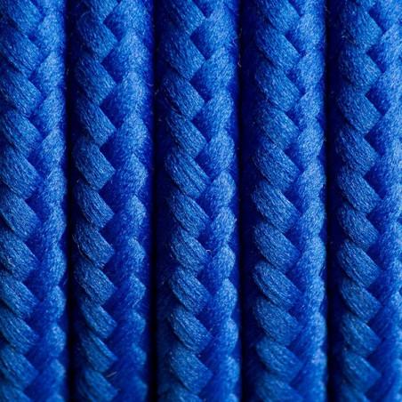 Ciemnoniebieski kabel w oplocie poliestrowym 06 chabrowe spojrzenie dwużyłowy 2x0.75 Kolorowe Kable