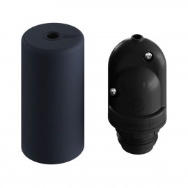 EIVA ELEGANT the first black silicone E27 IP65 external lamp holder with the possibility of DIY Creative-Cables assembly