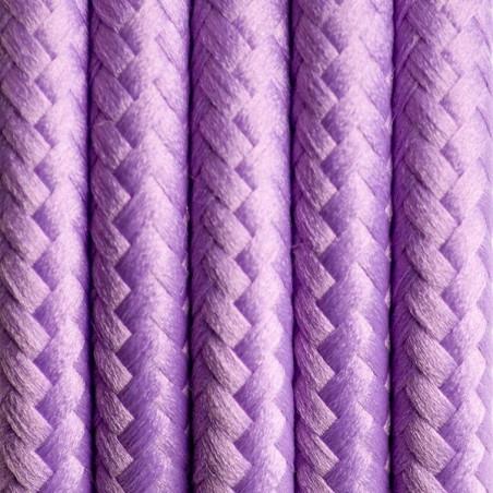 Kabel w oplocie poliestrowym 07 lawendowe pole dwużyłowy 2x0.75 Kolorowe Kable