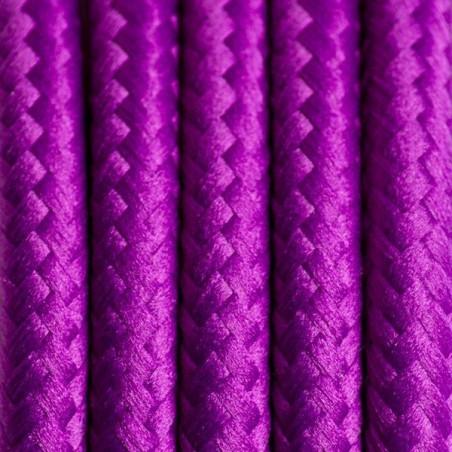 Kabel w oplocie poliestrowym 08 skalny fiołek dwużyłowy 2x0.75