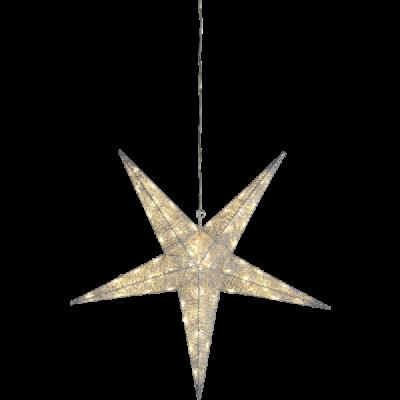 Lampa GWIAZDA WISZĄCA SEQUINI IP44 803-41 75cm biała STAR TRADING
