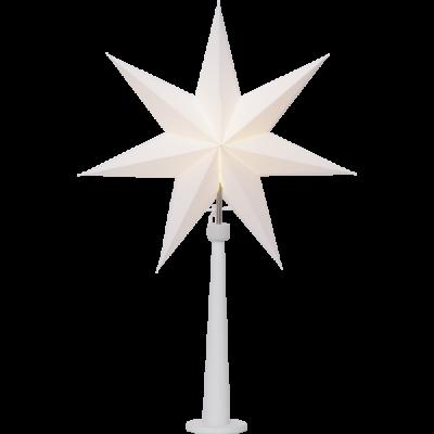 Lampa GWIAZDA STOJĄCA PAINT SNOW 243-24 drewniana podstawa, biała, 54cm  STAR TRADING