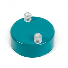 Metal ceiling cup lacquered in sea color - two cables
