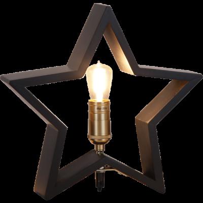 Lampa GWIAZDA STOŁOWA DREWNO LYSEKIL 257-32 czarna, 25W, 28cm STAR TRADING