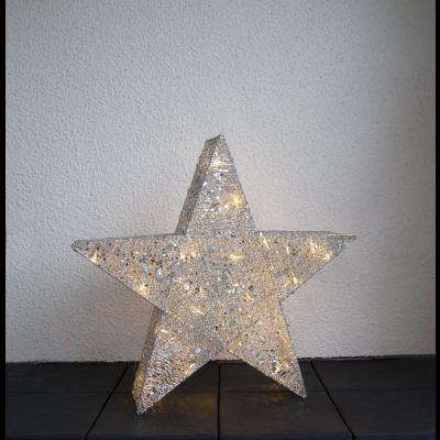 Lampa GWIAZDA STOJĄCA SEQUINI IP44 803-23 70cm, LED, ZŁOTA, 3,2V STAR TRADING