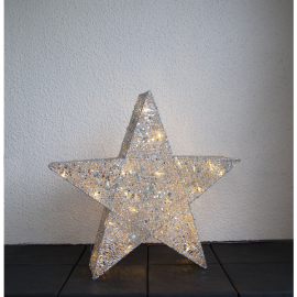 STANDING STAR SEQUINI lamp IP44 803-23 70cm, LED, GOLD, 3,2V STAR TRADING