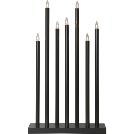 Lamp Candlestick HOLY 644-77 E10 gray STAR TRADING