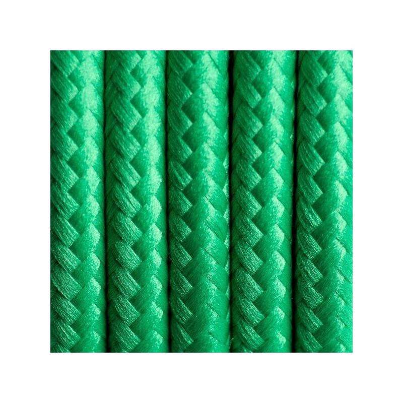 Kabel w oplocie poliestrowym 10 soczysta trawa dwużyłowy 2x0.75
