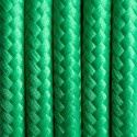 Kabel w oplocie poliestrowym 10 soczysta trawa dwużyłowy 2x0.75 Kolorowe Kable