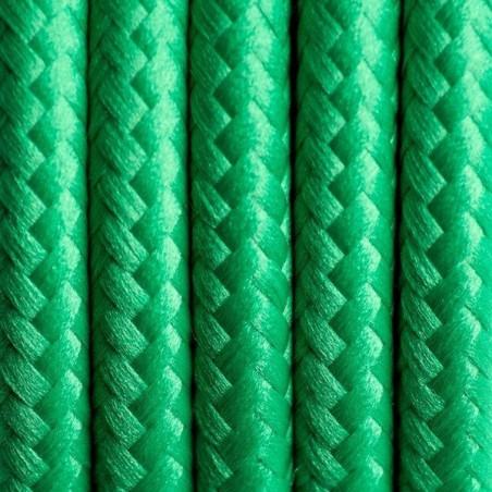 Zielony kabel w oplocie poliestrowym 10 soczysta trawa dwużyłowy 2x0.75 Kolorowe Kable