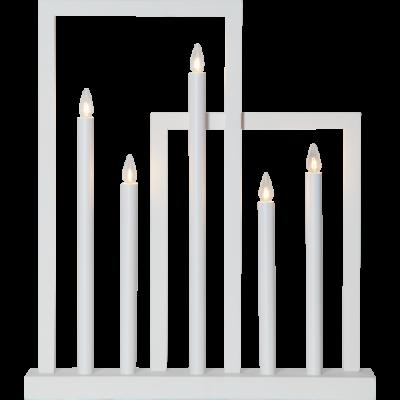 Lamp Candlestick FRAME 644-03 E10 white STAR TRADING