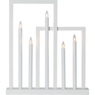 Lampa ŚWIECZNIK FRAME 644-03 E10 biały STAR TRADING