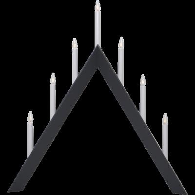 Lampa ŚWIECZNIK ARROW 219-87 E10 drewniany szary STAR TRADING