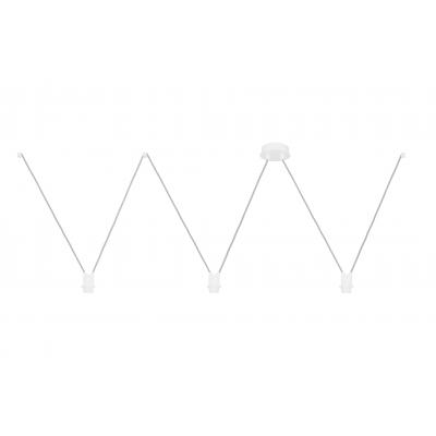 Białe zawieszenie VVV do lamp 3xE27 youngDeco