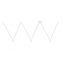 White suspension VVV for lamps 3xE27 youngDeco