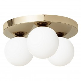 Ceiling lamp MIJA PLAFOND lampshades white balls gold frame KASPA