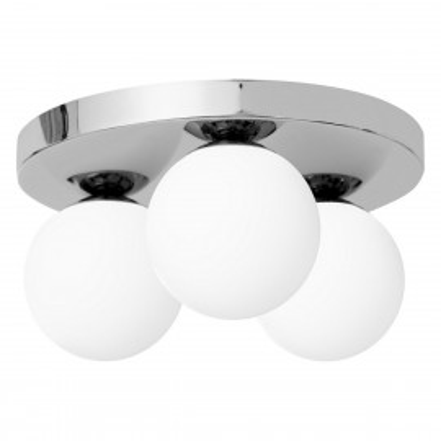 Ceiling lamp MIJA PLAFOND lampshades white balls chrome frame KASPA