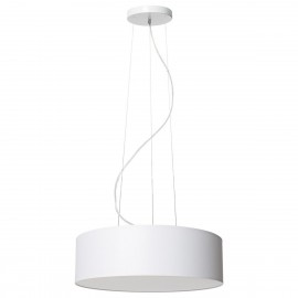 White ceiling lamp SPACE hanging lamp with lampshade KASPA