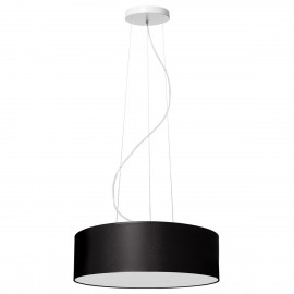 Black ceiling lamp SPACE hanging lamp with lampshade KASPA