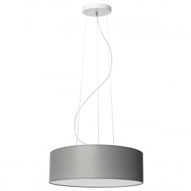 Grey ceiling lamp SPACE hanging lamp with lampshade KASPA