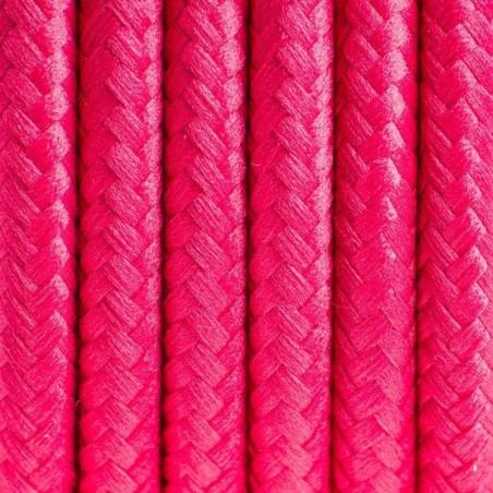 Kabel w oplocie poliestrowym 12 malinowy ogród dwużyłowy 2x0.75
