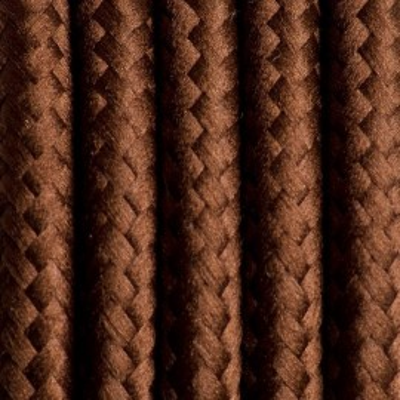 Kabel w oplocie poliestrowym 13 brazylijska kawa dwużyłowy 2x0.75