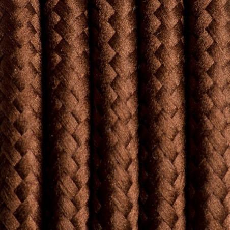 Brązowy kabel w oplocie poliestrowym 13 brazylijska kawa dwużyłowy 2x0.75 Kolorowe Kable