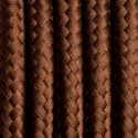 Round electric cable covered by polyester 13 Brazilian coffee 2x0.75